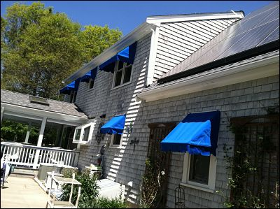 Canvas Window Awnings, Falmouth MA