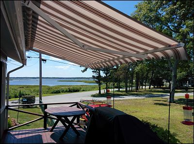 Even with the high winds that come with living by the sea, our retractable awnings stand the test of time year after year.