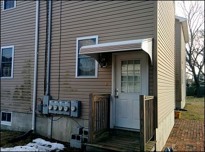 aluminum awnings on the front and back door american awning