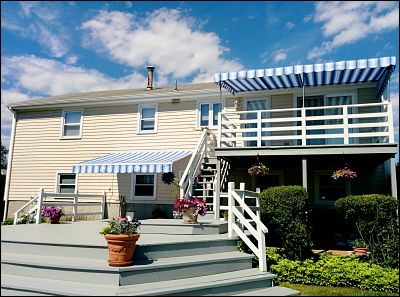 Retractables and pipe frame awnings can be both functional while looking good at the same time.
