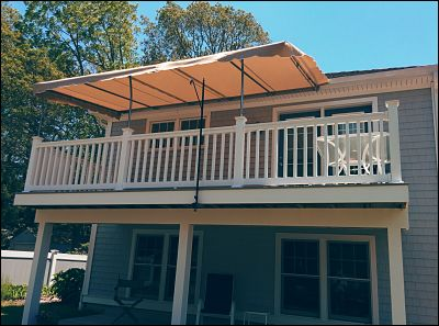 Pipe Frame Stationary Deck Awnings In Wareham And