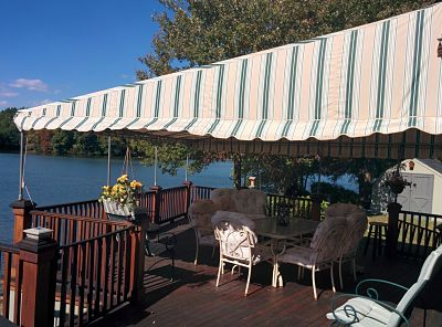 A gorgeous patio canopy overlooking Sassaquin Pond in New Bedford's north end.