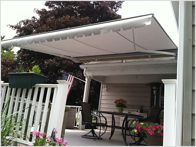 A Retractable Awning that provides much needed shade for this homeowner in New Bedford, MA.