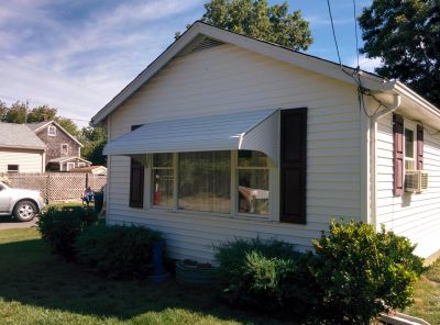 An aluminum awning on a picture window can really make a difference.