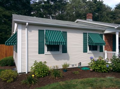 Canvas window awning recover in Acushnet, MA