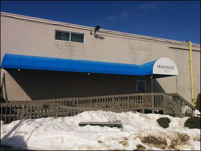 This handicap ramp awning measure in at over 20 feet long and the recover was done on site in under a day.