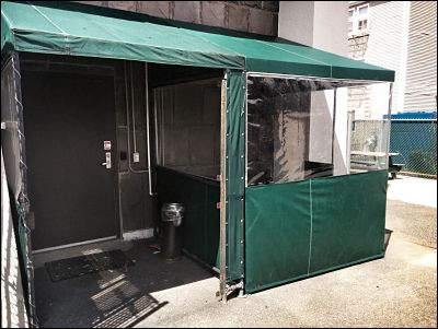 A custom outdoor enclosure will give employees some much needed outdoor time in any climate.