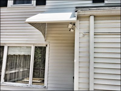 This entranceway was not the standard awning installation and proved a little tricky.