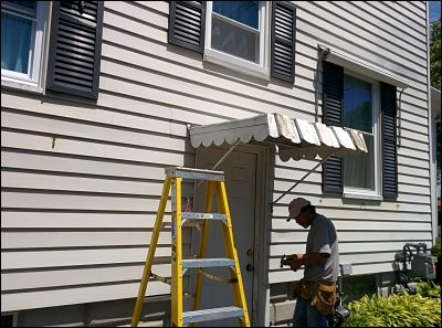 Old To New Aluminum Awning Before Amp After In New Bedford